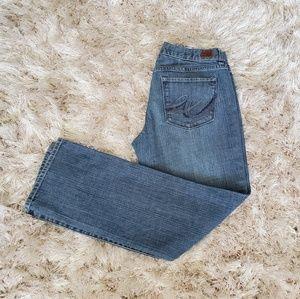 "Express ""X2"" Curvy Straight Leg Jeans 8 Short"